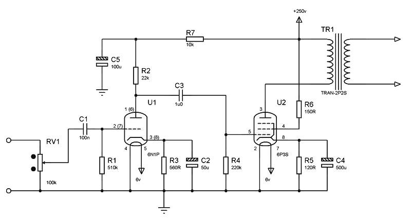 Simple Tube Amplifier Archives Amplifier Circuit Design