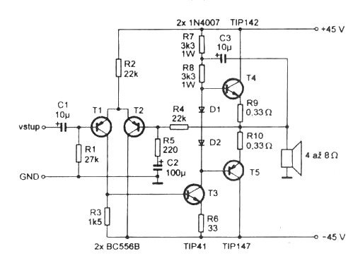 1 Watt Tube Guitar Amp Schematic