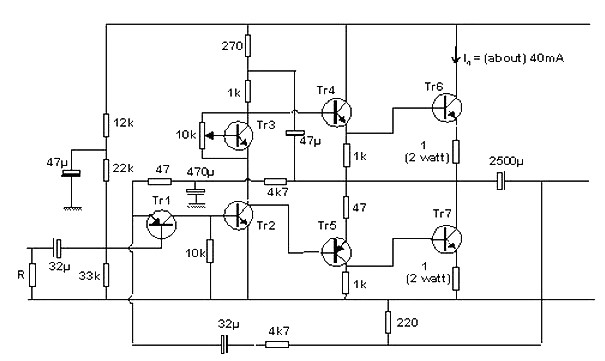 10 Watt Transistor audio amplifier - Amplifier Circuit DesignAmplifier Circuit