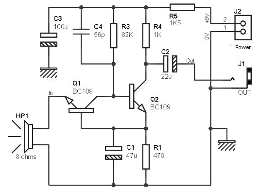 Preamp for the speakers as a microphone 2 - Amplifier Circuit Design