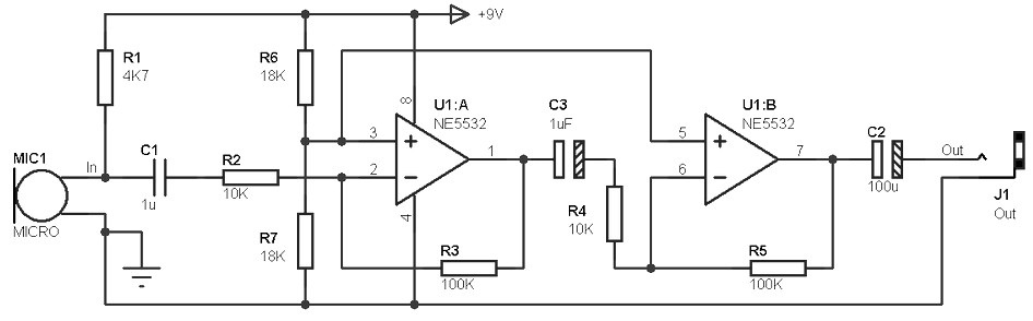 small electret microphone pre amplifier amplifier circuit design rh amplifiercircuit net