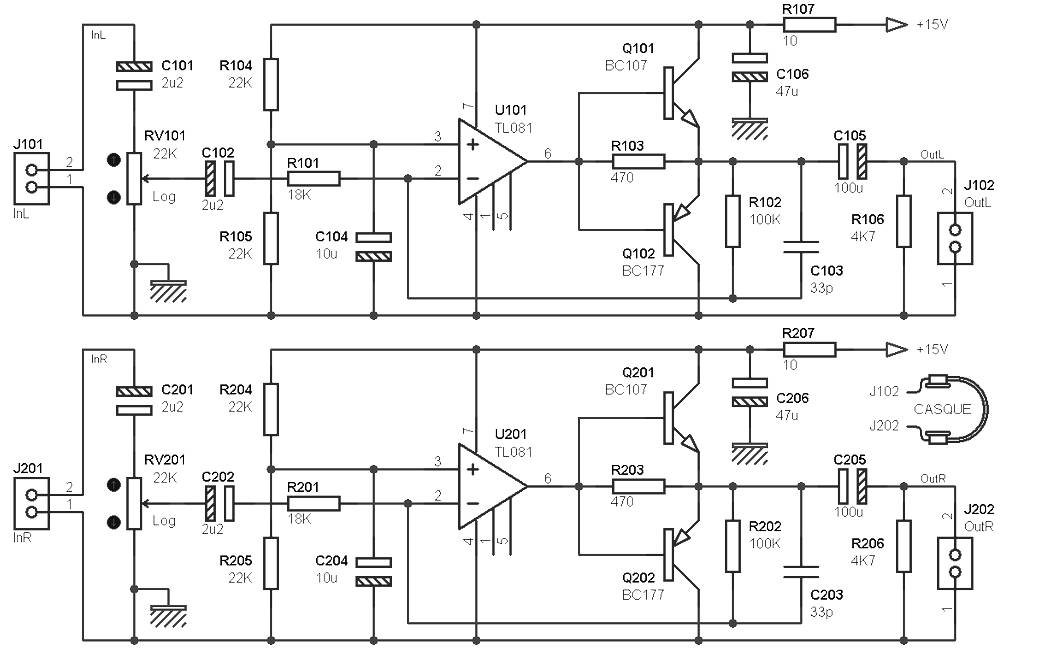 headphone amp diy schematic