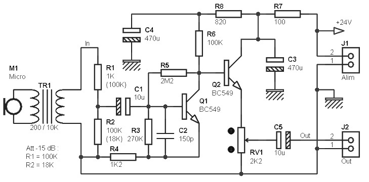 mono preamp with small transformer archives