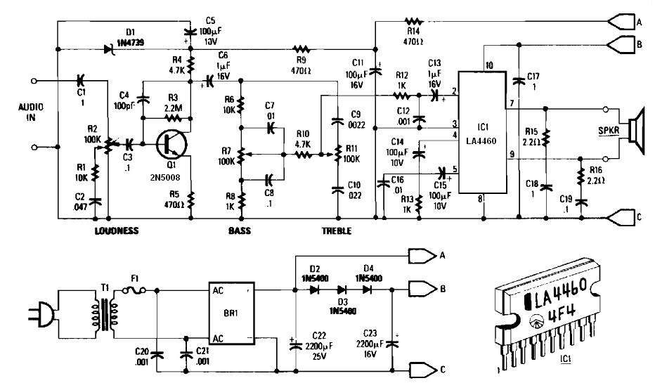 audio amplifier with bass and treble control archives