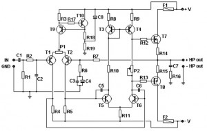 basic mosfet amplifier 300x190 100W Basic MOSFET amplifier