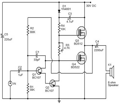 10 watts mosfet audio amplifier amplifier circuit design rh amplifiercircuit net  200 watt audio power amplifier circuit diagram