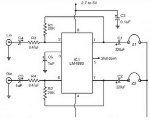 Hi Fi headphone amplifier circuit diagram 300x243 Hi Fi headphone amplifier circuit diagram