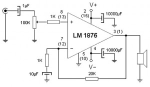 20 w amplifier schematic 300x174 20 w amplifier schematic