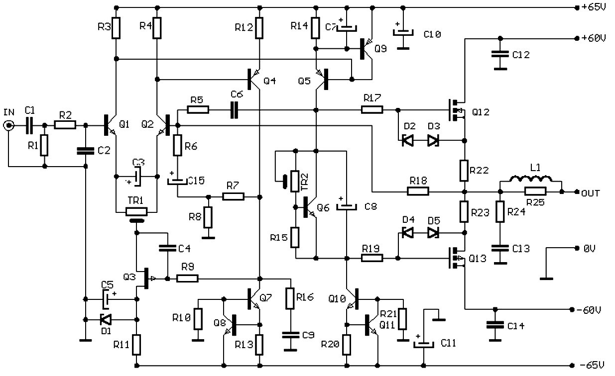100w Audio Amplifier Based Fet Circuit Design 80 Watt Power