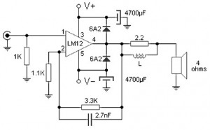 100 W amplifier based M12CLK 300x186 100 W audio amplifier based LM12CLK