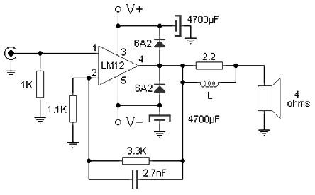 100 W audio amplifier schematic Archives - Amplifier ...