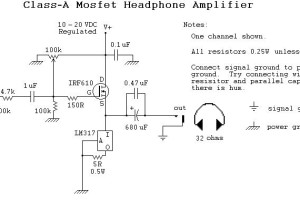 mosfet headphone amplifier