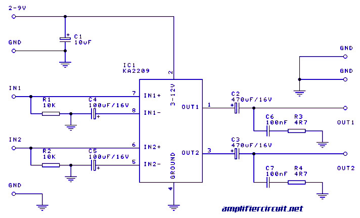 1 watt stereo    amplifier    Archives     Amplifier       Circuit    Design