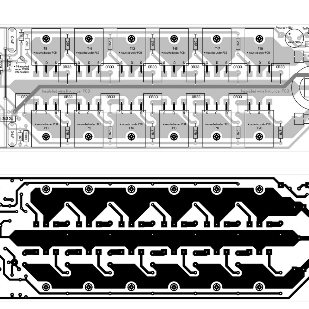 Power Supply Pcb Design For 600w Mosfet Amplifier 600 Watt With Diy Circuit